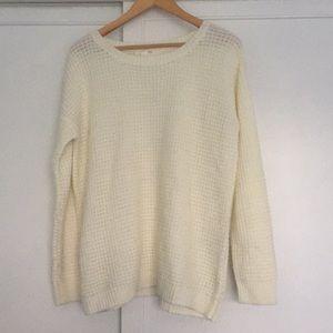 Oversized cream knit